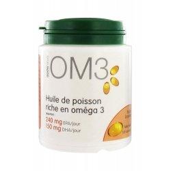 OM3 Huile de Poisson Riche en Oméga 3 120 Capsules pas cher, discount