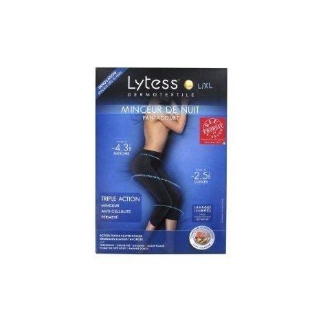 Lytess Minceur Nuit Pantacourt Taille L/XL Noir pas cher, discount