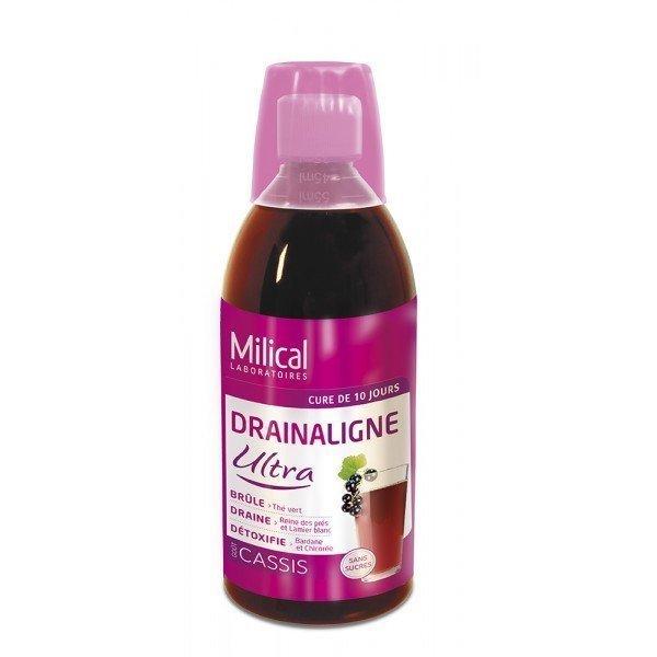 Milical Draineur Minceur Ultra Gout Cassis 500 ml : Tous