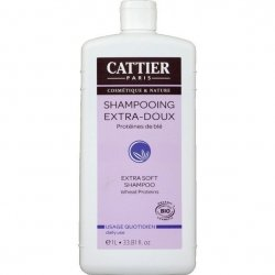 Cattier Shampooing Extra-Doux Usage Quotidien 1 Litre