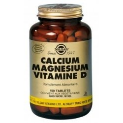 Solgar Calcium Magnésium Vitamine D 150 comprimés pas cher, discount