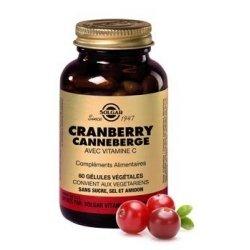 Solgar Cranberry Canneberge 60 gélules pas cher, discount