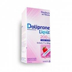 Doliprane Liquiz 200 mg Enfants 11 à 38 kg 12 Sachets