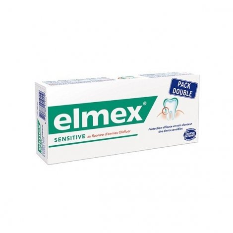 Dentifrice Elmex Sensitive Pack Double 2 x 75 ml pas cher, discount