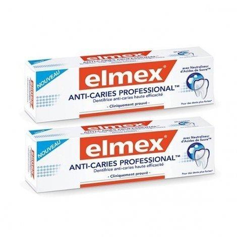 Elmex Anti-Caries Professional Dentifrice Anti-Caries Haute Efficacité 2 x 75 ml pas cher, discount