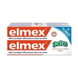 Elmex Dentifrice Junior 6-12 Ans Pack Double 2x75 ml pas cher, discount