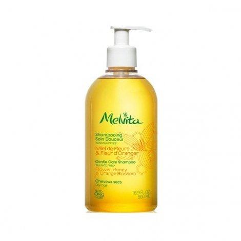 Melvita Shampooing Soin Douceur Miel de Fleurs et Fleur d'Oranger Cheveux Secs 500 ml pas cher, discount