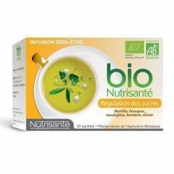 Nutrisante Infusion bio : Régulation des Sucres x20 sachets pas cher, discount
