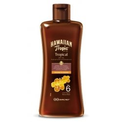 Hawaiian Tropic Huile Sèche de Bronzage SPF6 Coconut et Papaya 200 ml