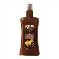 Hawaiian Tropic Spray Huile Sèche de Bronzage SPF10 Coconut et Papaya 200 ml
