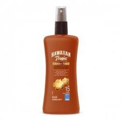 Hawaiian Tropic Spray Solaire SPF15 Golden Tint Hâle Naturel 200 ml