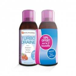 Forte Pharma Turbodraine Duo Goût Framboise 500 ml x 2