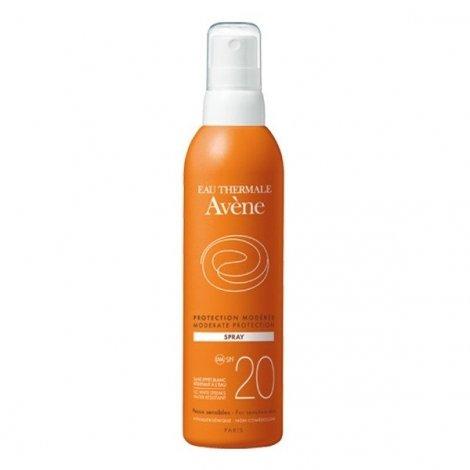 Avène Solaire Spray Protection Modérée SPF20 Peaux Sensibles 200 ml pas cher, discount