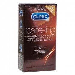 Durex Real Feeling Sans Latex  x10 Préservatifs