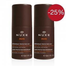 Nuxe Men Deodorant Protection 24H Lot de 2x50 ml pas cher, discount