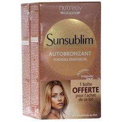 Nutreov Sunsublim Autobronzant Activateur Bonne Mine 2x28 Capsules + 1 mois OFFERT pas cher, discount