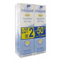 Stérimar Bébé Hygiène du nez -25% Lot de 2x100 ml pas cher, discount