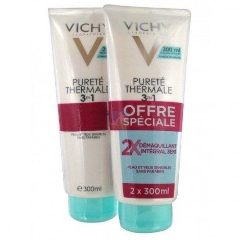 Vichy Pureté Thermale Démaquillant 3 en1 Offre Spéciale 2x300 ml pas cher, discount