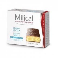 Milical Barres Hyperprotéinées Minceur Saveur Vanille x6
