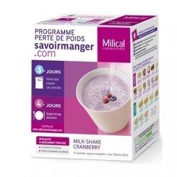 Milical LCD Milk-Shake Saveur Cranberry 4 sachets pas cher, discount