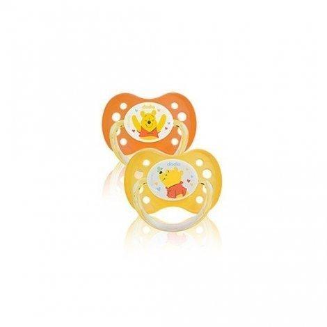 Dodie Duo Sucettes Disney Winnie 0 à 6 mois x 2 pas cher, discount