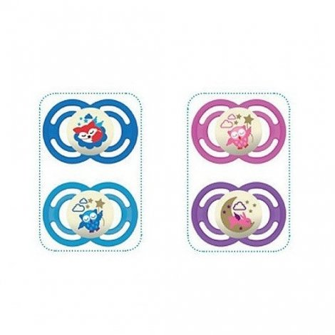 Mam Duo Sucette Silicone Perfect Nuit Collection Animaux x 2 +18 mois - Couleurs variables pas cher, discount