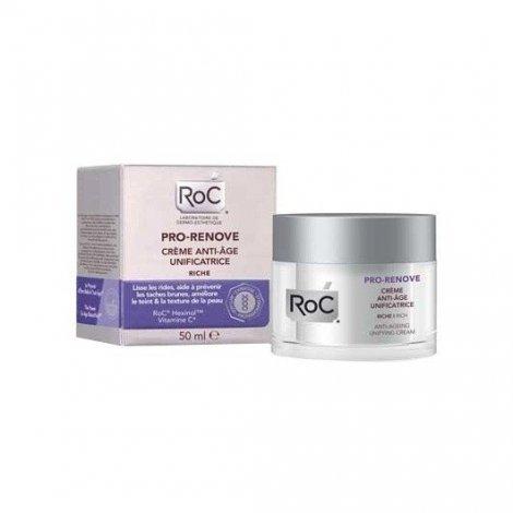 Roc Pro Renove Crème Anti Age Unificatrice Riche 50ml pas cher, discount