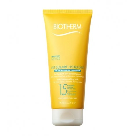 Biotherm Lait Solaire Hydratant SPF 15 200 ml pas cher, discount