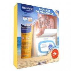 Mustela Coffret Solaire Lait 50 SPF 200ml + 25 lingettes + Ballon de plage pas cher, discount