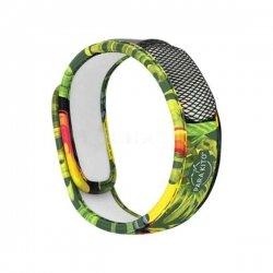 Para'Kito Bracelet Anti-Moustique Motif Forêt Vert Répulsif Naturel + 2 pastilles