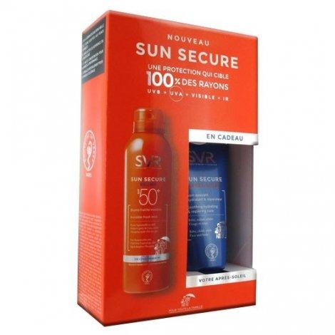 SVR Sun Secure Coffret Brume Fraiche SPF50+  50ml   + Après Soleil 50ml offert pas cher, discount