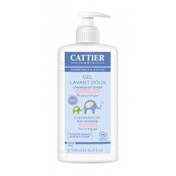 Cattier Bébé Gel Lavant Doux Cheveux et Corps 500 ml