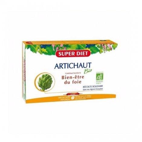 Superdiet Bien Etre du Foie Artichaut Bio 20 Ampoules pas cher, discount