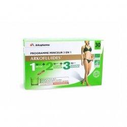 Arkopharma Arkofluides Programme Minceur 30 jours 3 en 1 Detox, Starter, Booster 450 ml pas cher, discount