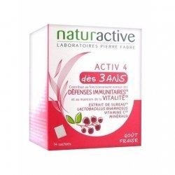 NaturActive Activ4 Défenses Immunitaires et Vitalité Enfant 14 Sachets