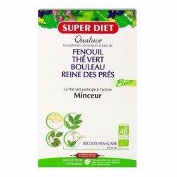 Superdiet Quatuor Thé Vert Minceur Bio 20 Ampoules pas cher, discount