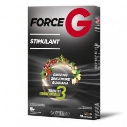 Nutrisanté Force G Stimulant Ginseng Gingembre Guarana 20 Ampoules pas cher, discount