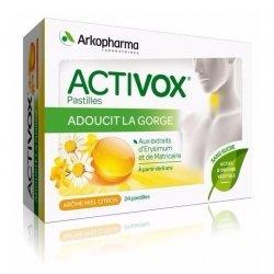 Arkopharma Activox Adoucissant Gorge Miel Citron 24 Pastilles pas cher, discount