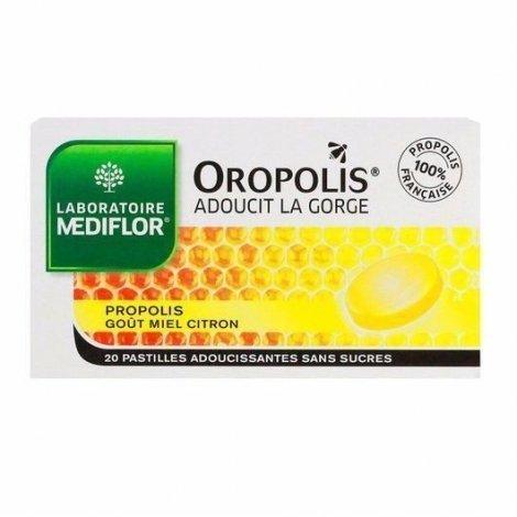 Mediflor Oropolis Adoucissant Gorge Propolis Miel Citron 20 Pastilles pas cher, discount