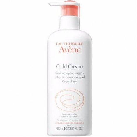 Avène Cold Cream Gel-Nettoyant Surgras 400 ml pas cher, discount
