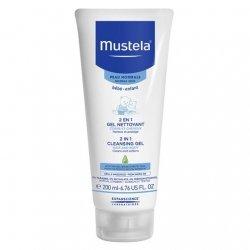 Mustela Bébé 2 en 1 Gel Nettoyant Corps et Cheveux 200 ml pas cher, discount