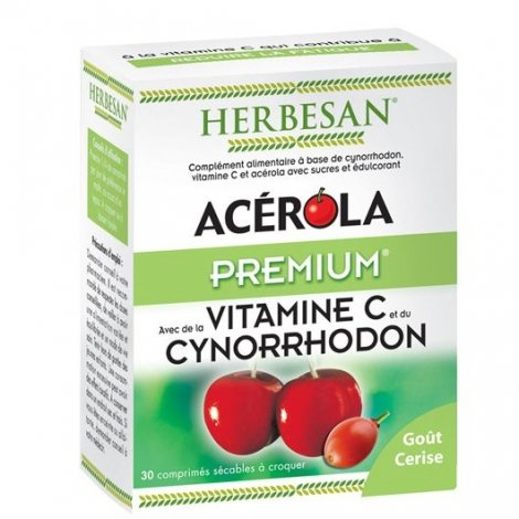 Herbesan Acérola Premium Vitalité 30 Comprimés pas cher, discount