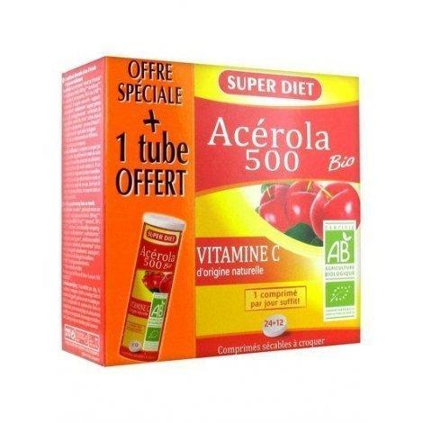 Superdiet Acérola Bio 500 x36 Comprimés pas cher, discount
