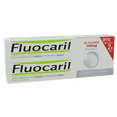 Fluocaril Dentifrice Blancheur bi-fluoré 145mg  2x75ml pas cher, discount