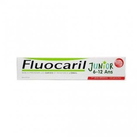 Fluocaril Dentifrice Junior 6/12 Ans Gout Fruits Rouge 75ml pas cher, discount