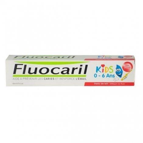 Fluocaril Dentifrice Kid 0/6 Ans Goût Fraise 50ml pas cher, discount