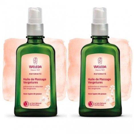 Offre Spéciale Weleda Duo d'Huile de Massage Vergetures 2x100 ml pas cher, discount