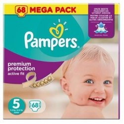 Pampers Active Fit Premium Protection Couches Taille 5 11-23kg  x68