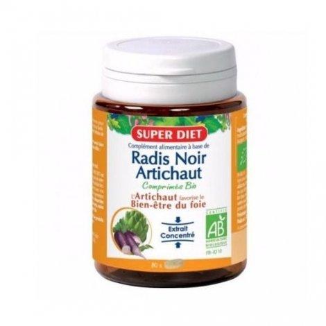 Superdiet Digestion Radis Noir Artichaut Bio 80 Comprimés pas cher, discount