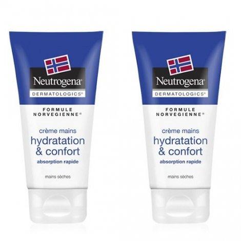 Neutrogena Crème Mains Hydratation & Confort 2x75ml pas cher, discount